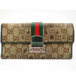 Authentic Gucci Long Trifold Wallet